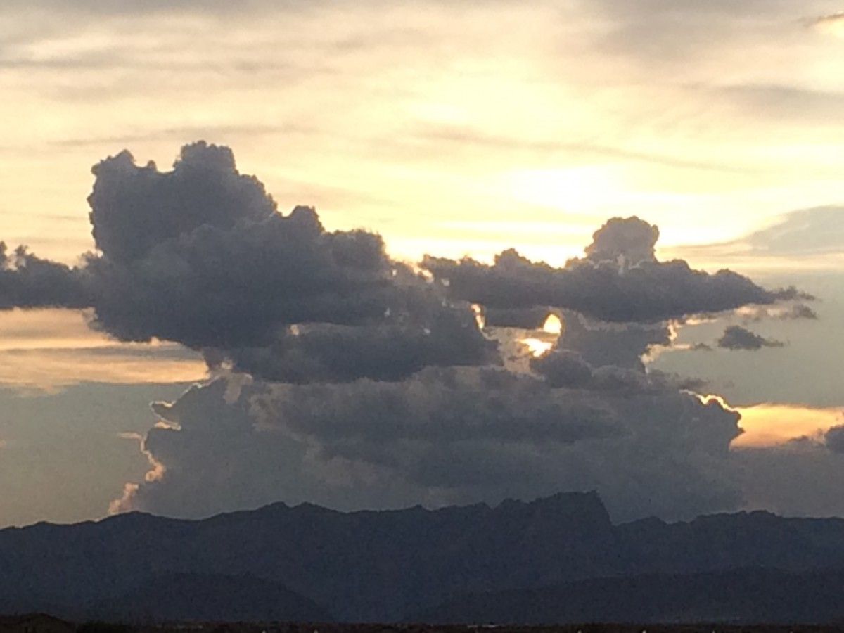 Clouds over Red Rock Canyon, Las Vegas Nevada