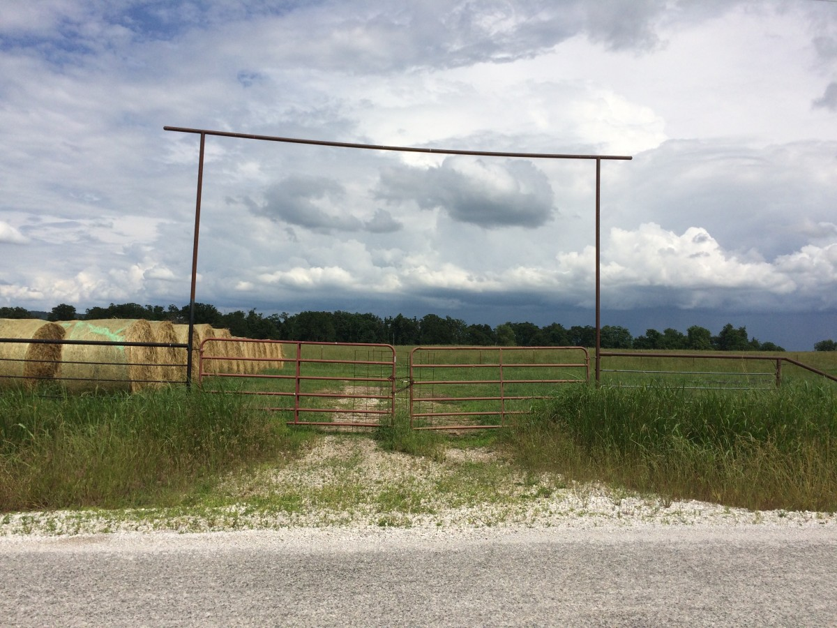 Farm Gate to a Field Near Fayetville Arkansas