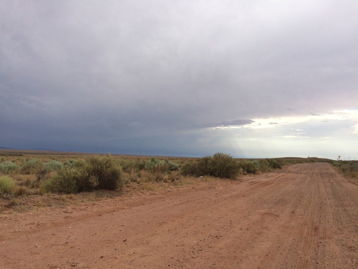 View to the west, off I-40, east of Winslow Arizona